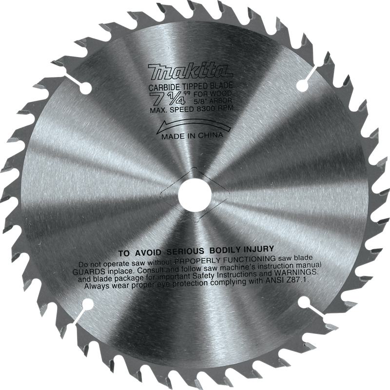 Makita usa product details 721251 a 714 40t carbidetipped circular saw blade fine crosscutting keyboard keysfo Gallery