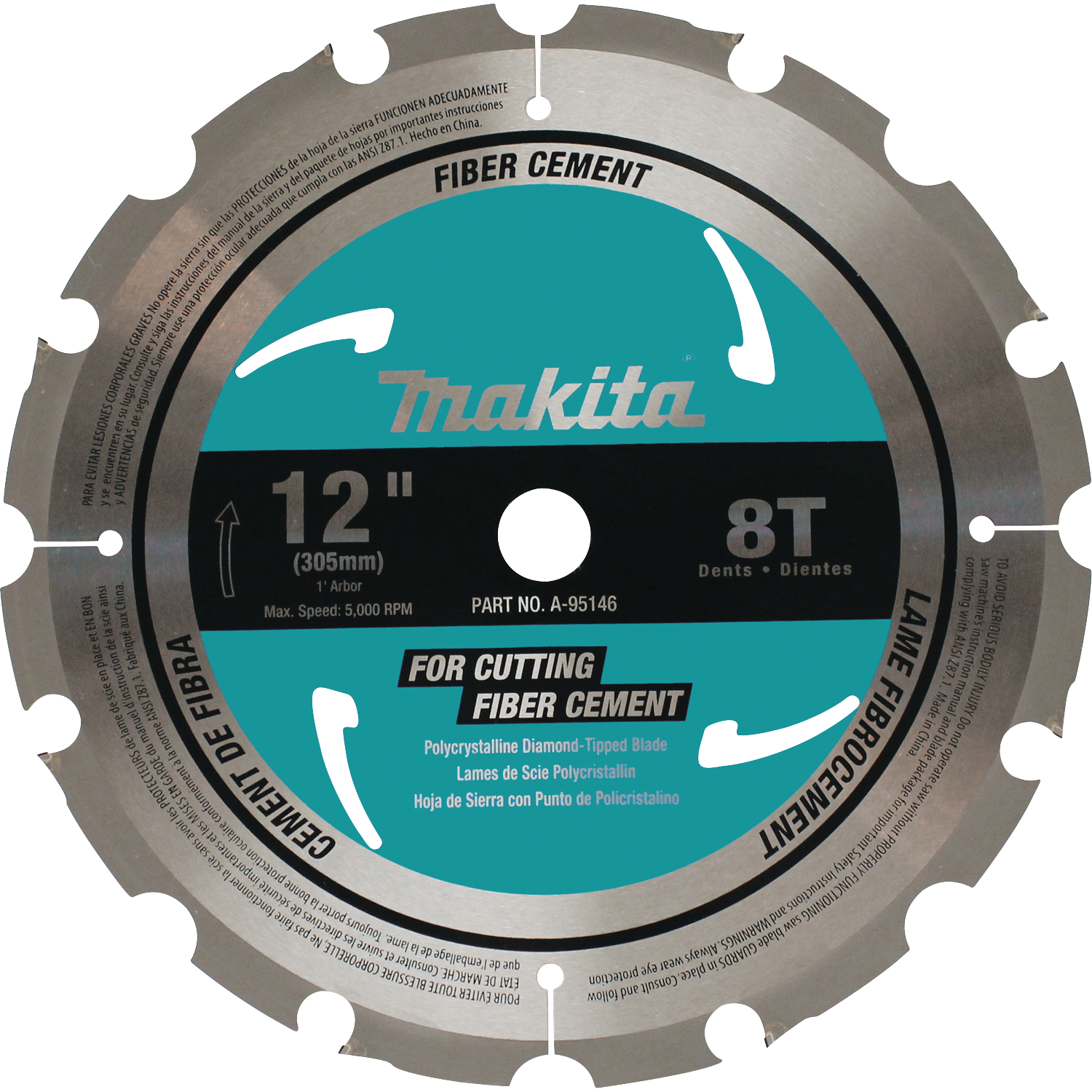 Makita usa product details a 95146 miter saw blade fiber cement a 95146 greentooth Image collections