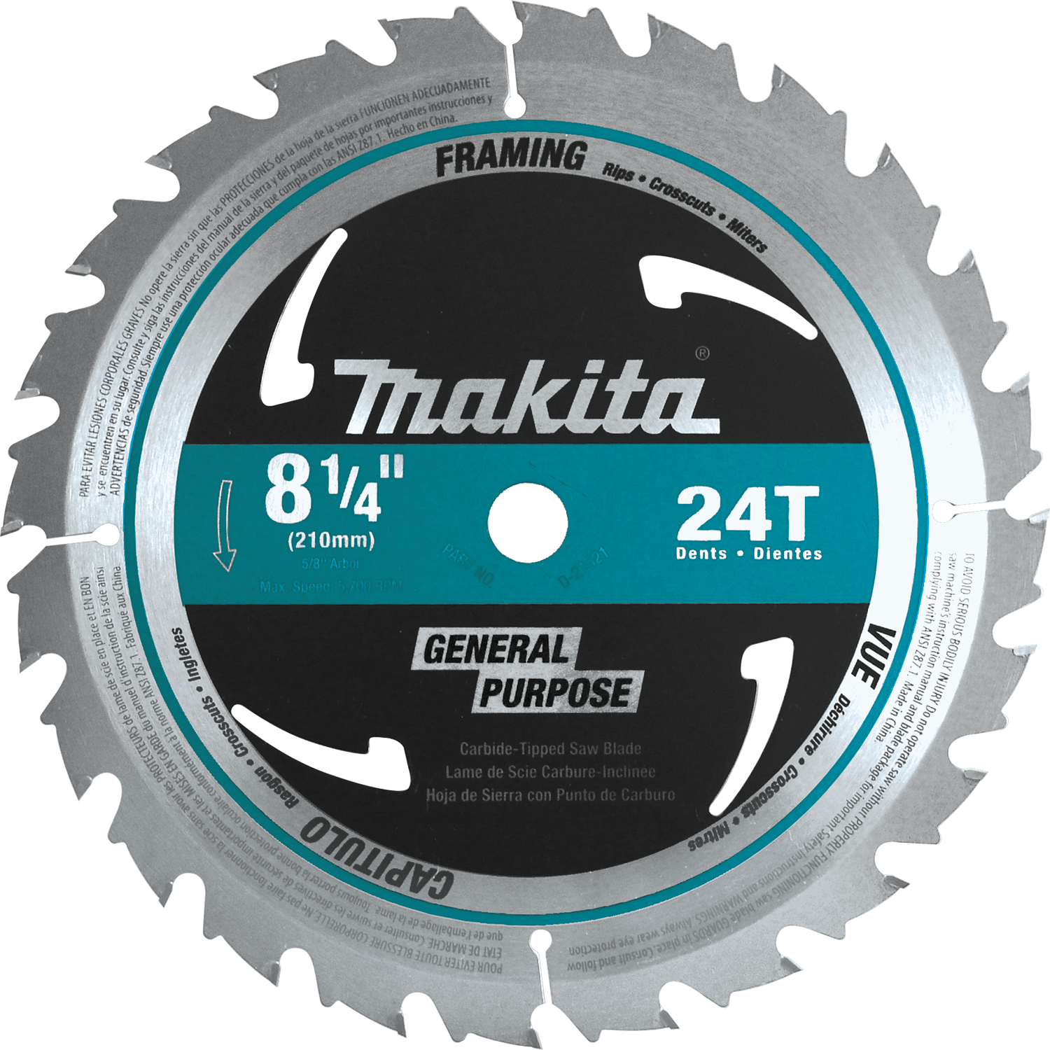 "8-1//4/"" x 24T Carbide Tipped Saw Blade"
