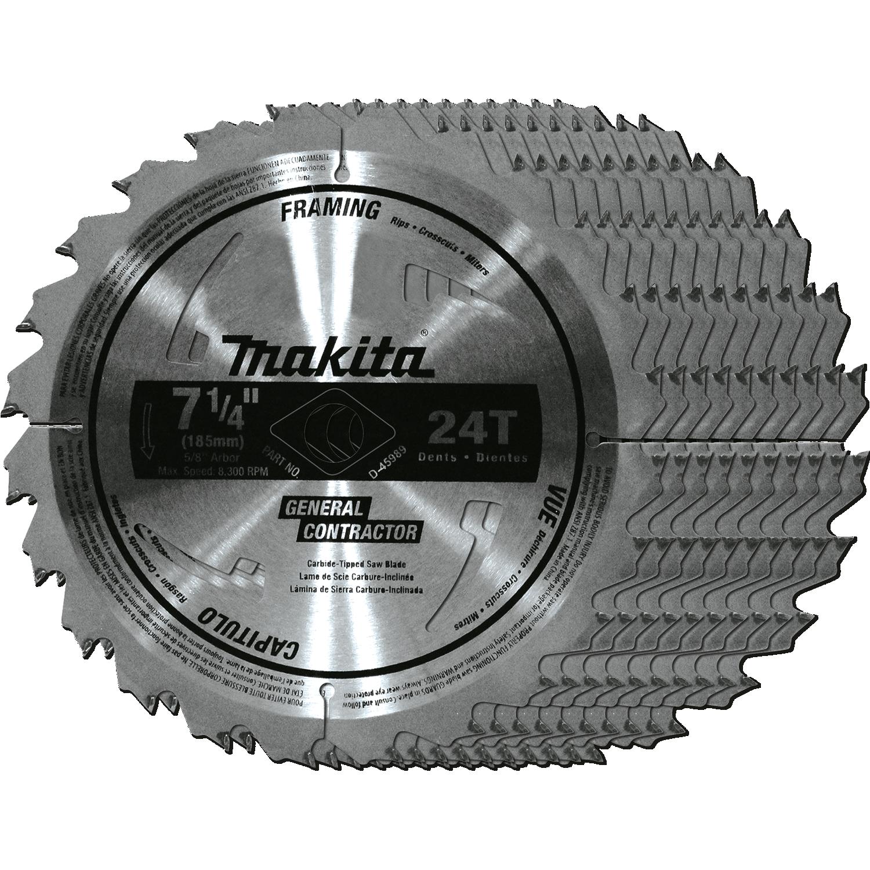 Makita d-45989-10 7-1/4-inch circular saw blade, 10-pack power.