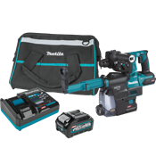 """40V max XGT® Brushless 1-1/8"""" AVT® Rotary Hammer Kit with Dust Extractor, AFT®, AWS® Capable"""