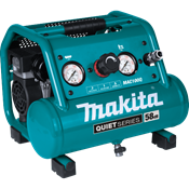 Quiet Series 1/2 HP, 1 Gallon Compact, Oil-Free, Electric Air Compressor