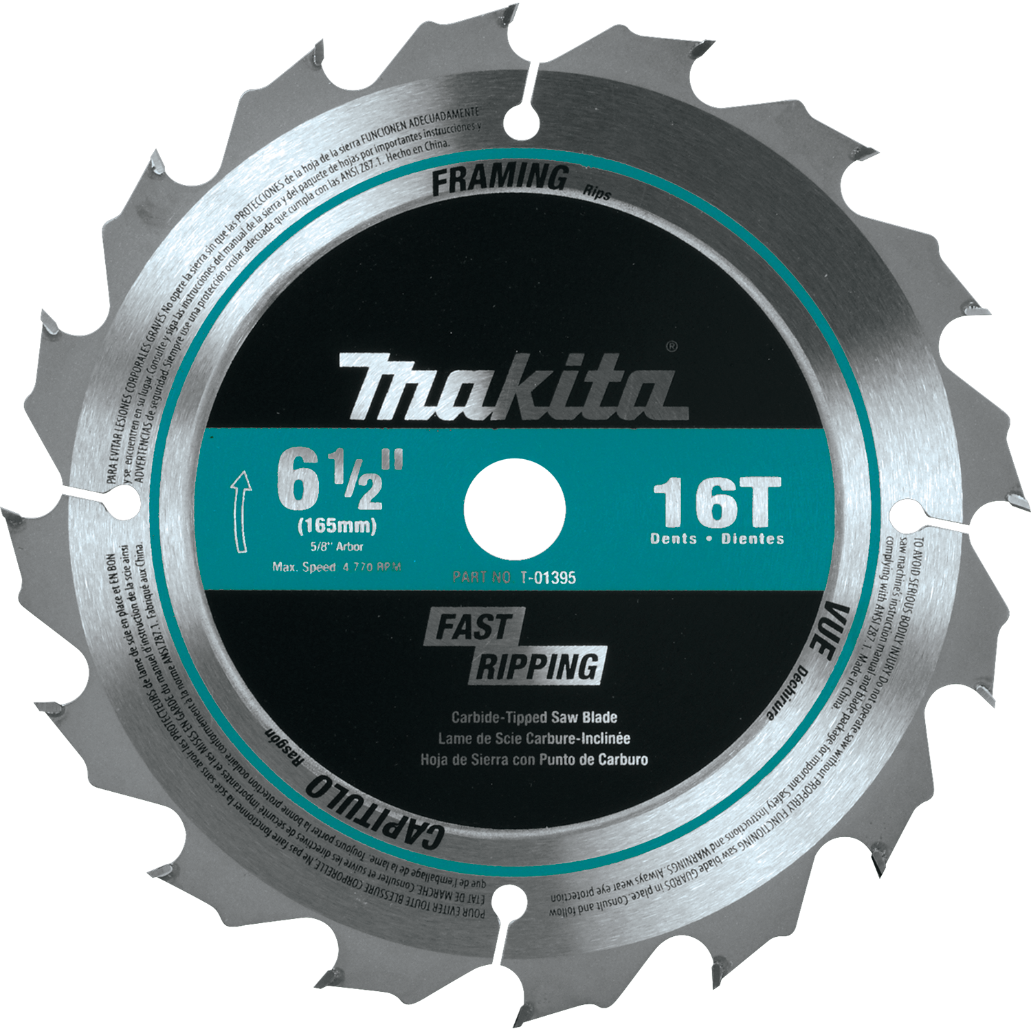 Makita usa product details t 01395 circular saw blade t 01395 greentooth Image collections
