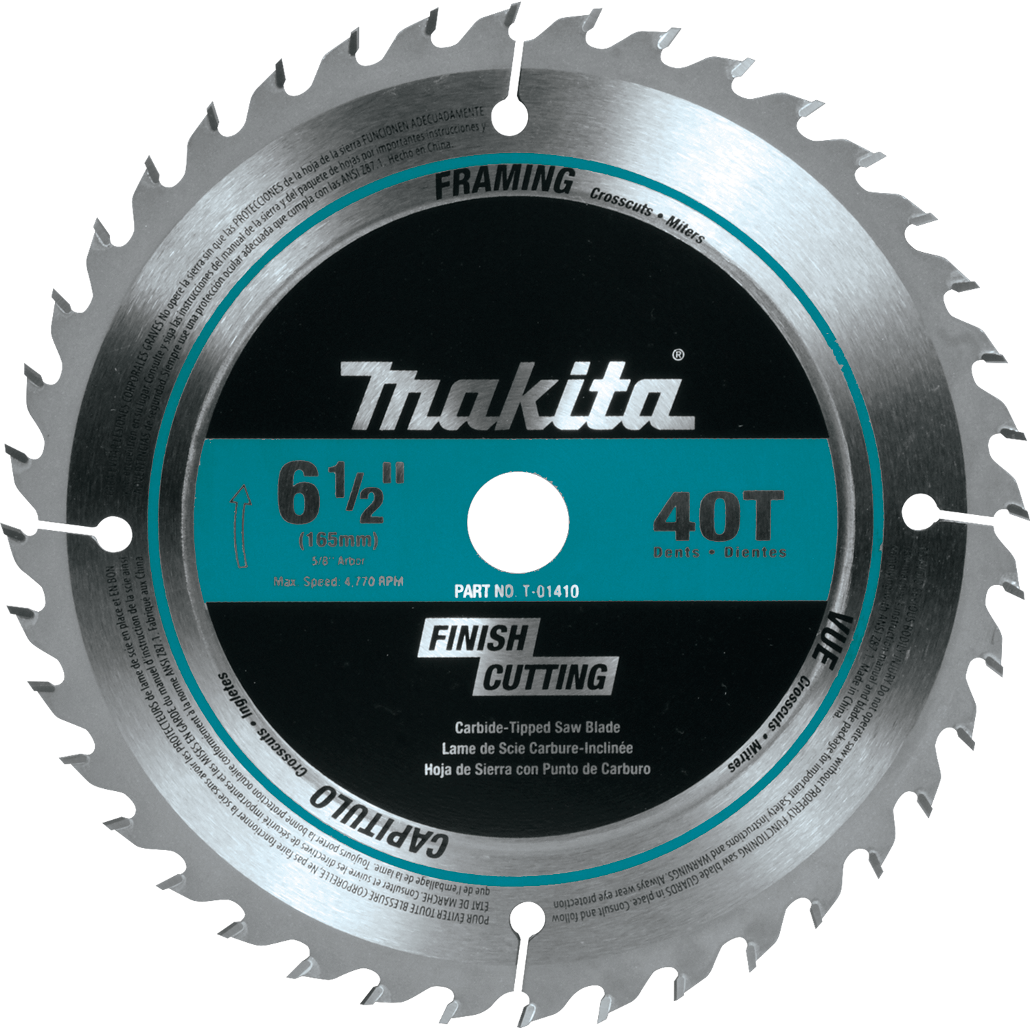 Makita usa product details t 01410 circular saw blade t 01410 greentooth Images