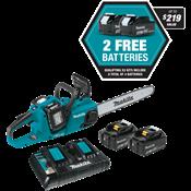 """18V X2 (36V) LXT® Brushless 16"""" Chain Saw Kit w/ 4 Batteries"""