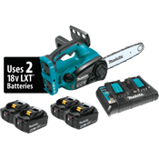 "18V X2 (36V) LXT® 12"" Chain Saw Kit with 4 Batteries"