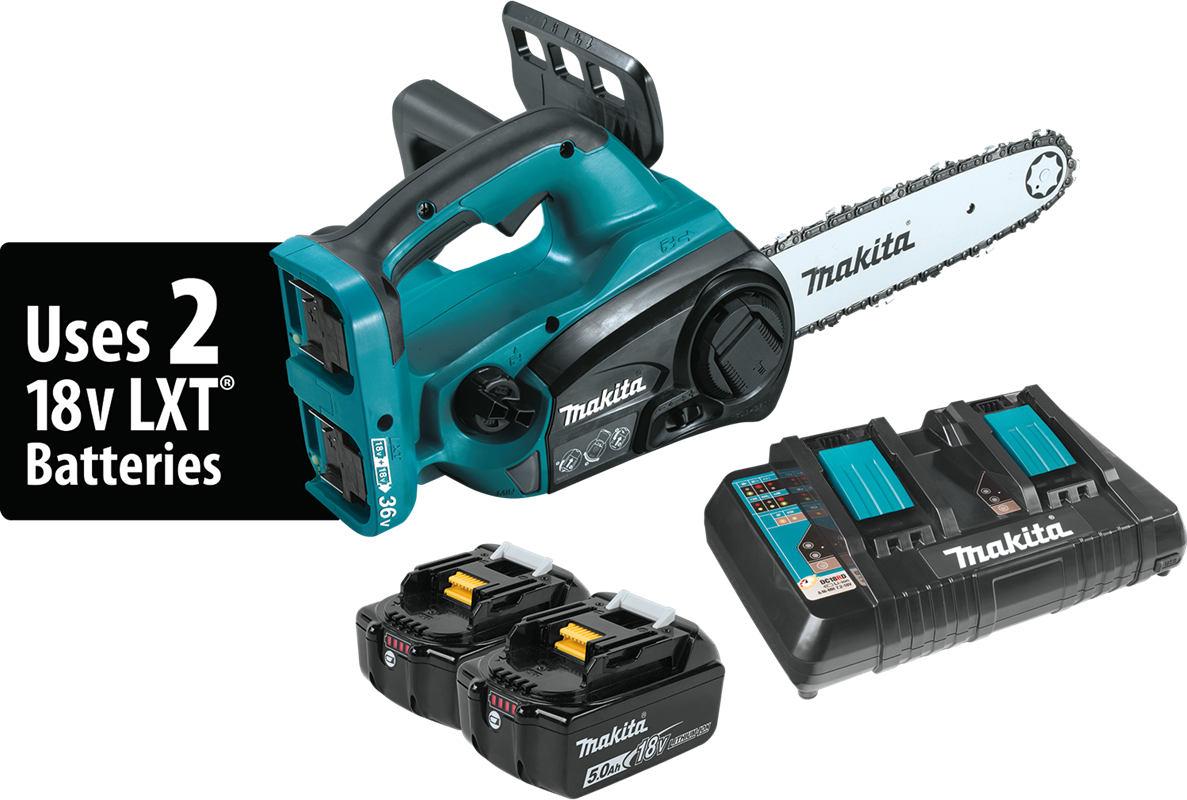 Makita usa product details xcu02pt 18v x2 36v lxt lithiumion cordless 12 chain saw kit 50ah greentooth Choice Image