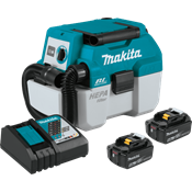 18V LXT® Brushless 2 Gal. HEPA Filter Portable Wet/Dry Dust Extractor/Vacuum Kit