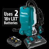 18V X2 LXT® (36V) BL™ 1.6 Gal. HEPA Filter Backpack Dust Extractor Kit, AWS™ Cap