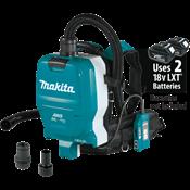 18V X2 LXT® (36V) BL™ 1/2 Gal. HEPA Filter Backpack Dust Extractor, AWS™ Capable