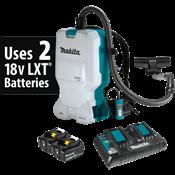 18V X2 LXT® (36V) Brushless 1.6 Gallon HEPA Filter Backpack Dry Vacuum Kit