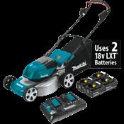 """18V X2 (36V) LXT® Brushless 18"""" Lawn Mower Kit with 4 Batteries"""