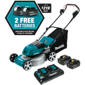 "18V X2 (36V) LXT® Brushless 18"" Lawn Mower Kit with 4 Batteries"