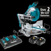 """18V X2 LXT® (36V) Brushless 10"""" Dual-Bevel Sliding Compound Miter Saw Kit, AWS™"""