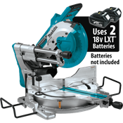 "18V X2 LXT® (36V) Brushless 10"" Dual-Bevel Sliding Compound Miter Saw, AWS™"