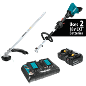 18V X2 (36V) LXT® Brushless Couple Shaft Power Head Kit with Trimmer Attachment