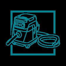 Extractores de Polvo Inalámbricos/Con Cable