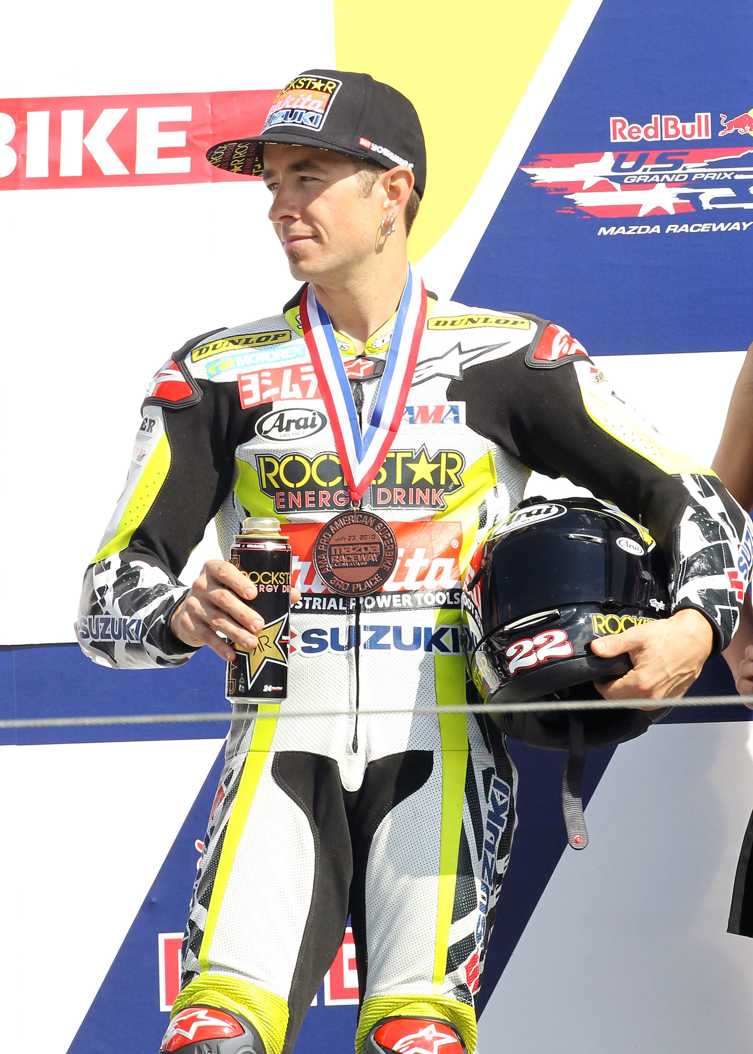 ROCKSTAR MAKITA SUZUKI ON THE PODIUM AT LAGUNA SECA
