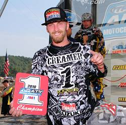 ROCKSTAR MAKITA SUZUKI'S JOSH CREAMER IS THE 2010 AMA ATV MX CHAMPION