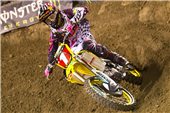 TEAM ROCKSTAR MAKITA SUZUKI SCORES A TOP TEN AT ANAHEIM II SUPERCROSS