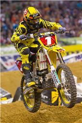 TEAM ROCKSTAR MAKITA SUZUKI'S RYAN DUNGEY CLAIMS A THIRD-PLACE PODIUM IN ARLINGTON