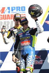 DOUBLE-PODIUM FOR TEAM ROCKSTAR MAKITA SUZUKI AT LAGUNA SECA SUPERBIKE RACE!