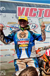 TEAM FMF MAKITA SUZUKI'S JOSH STRANG TAKES SECOND AT THE BIG BUCK GNCC