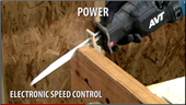 AVT RECIPRO SAW COMBINES 15 AMP POWER WITH LESS VIBRATION