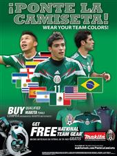 MAKITA® CATCHES SOCCER FEVER WITH NATIONAL TEAM GEAR GIVEAWAY, TICKETS TO BRAZIL, AND MORE
