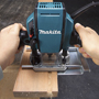 MAKITA'S NEW 1-1/4 HP ROUTER DELIVERS MORE POWER AND SPEED FOR SMOOTH ROUTING