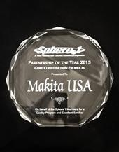 MAKITA WINS SPHERE 1 VENDOR AWARD FOR SECOND YEAR IN A ROW