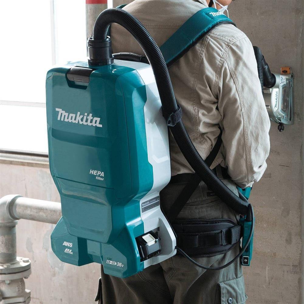 MAKITA INTRODUCES LARGER CAPACITY JOB SITE CORDLESS BACKPACK DUST EXTRACTOR
