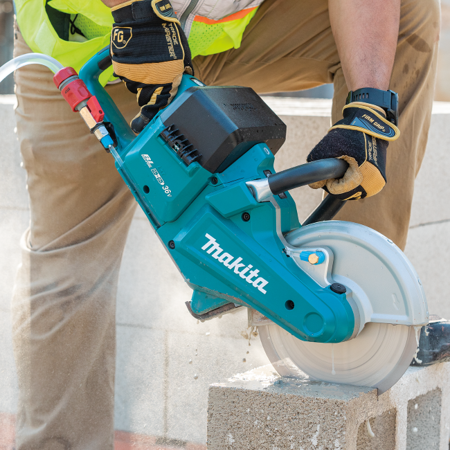"MAKITA LAUNCHES NEW LXT® BRUSHLESS 9"" POWER CUTTER"