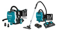 NEW MAKITA 18V LXT CORDLESS BACKPACK  VACUUMS ARE POWERFUL AND PORTABLE SOLUTIONS FOR CLEAN-UPS AND DUST EXTRACTION